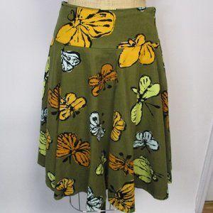Anthropologie FEI Butterfly Corduroy Skirt 8